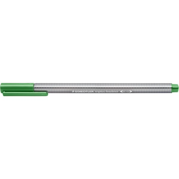 Caneta Com Ponta Porosa Fineliner Triplus 0.3mm Verde Staedtler