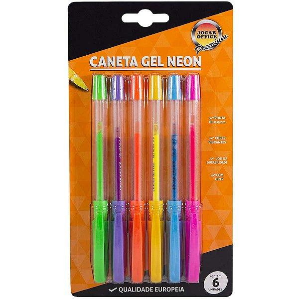 Caneta Gel Jocar Neon Bl.C/06 Cores Leonora