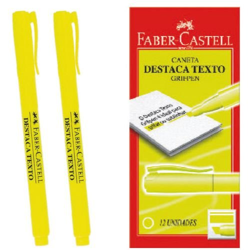Caneta Marca Texto Grifpen Amarela Faber-Castell