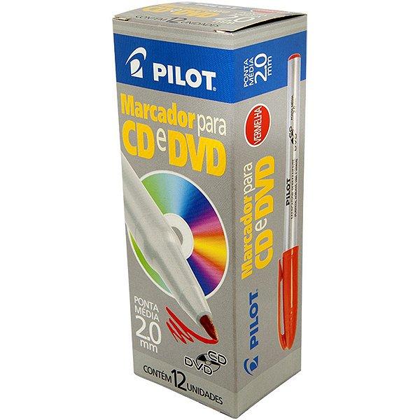 Caneta Para Cd 2.0mm Ponta Media Vermelha Pilot