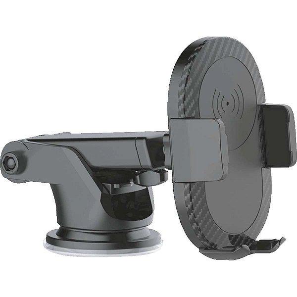Carregador Celular Veicular Wireless C/Suporte Usb 5v-2a Elgin
