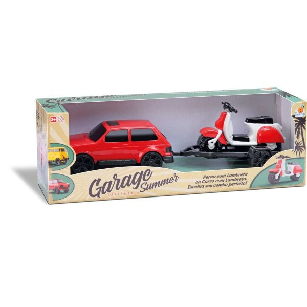 Carrinho Garage Summer Car Cores Sortid Orange Toys