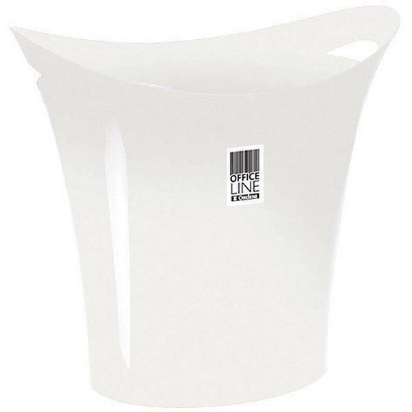 Cesto Para Lixo Plastico Branco 8,8l. Ordene