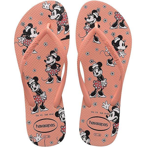 Chinelo Havaianas Feminino Slim Disney 35/6 Ice Pink Havaianas