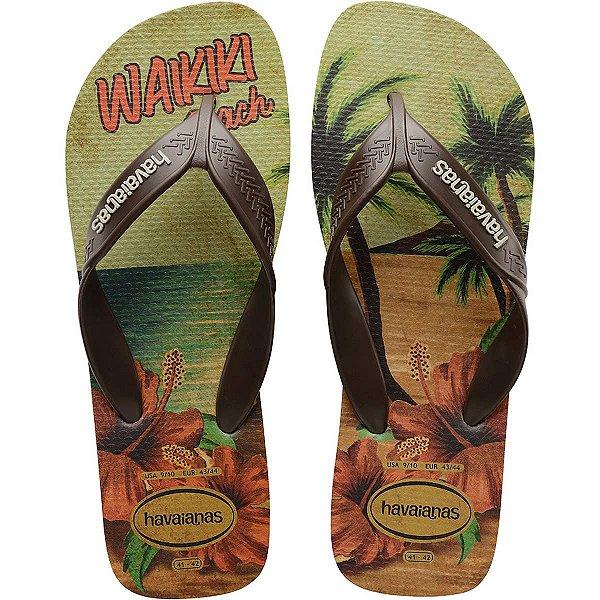 Chinelo Havaianas Masculino Surf 41/2 Areia/Cafe Havaianas