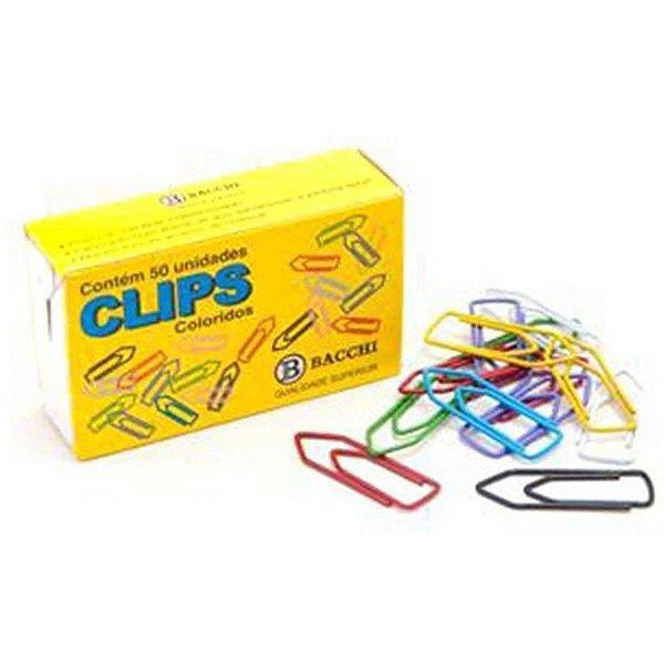 Clips Colorido Ref.6/0 C/ 50 Unidades Bacchi