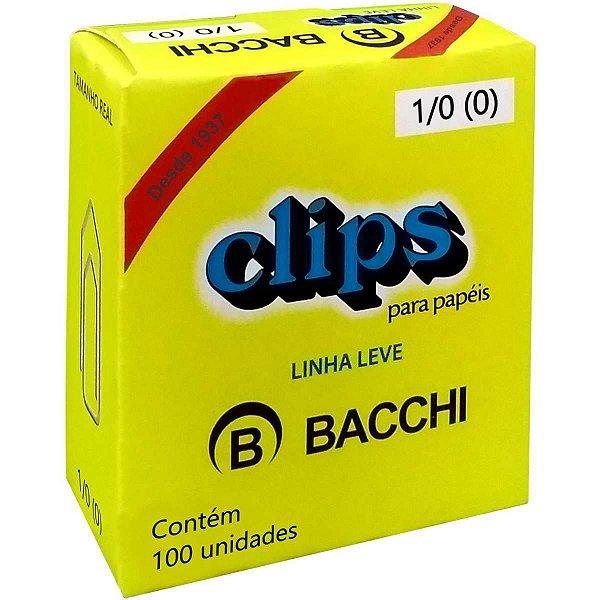 Clips Galvanizado Aço 1/0 Linha Leve C/100 Unid. Bacchi