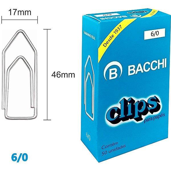 Clips Galvanizado Aço 6/0 50 Unidades Bacchi