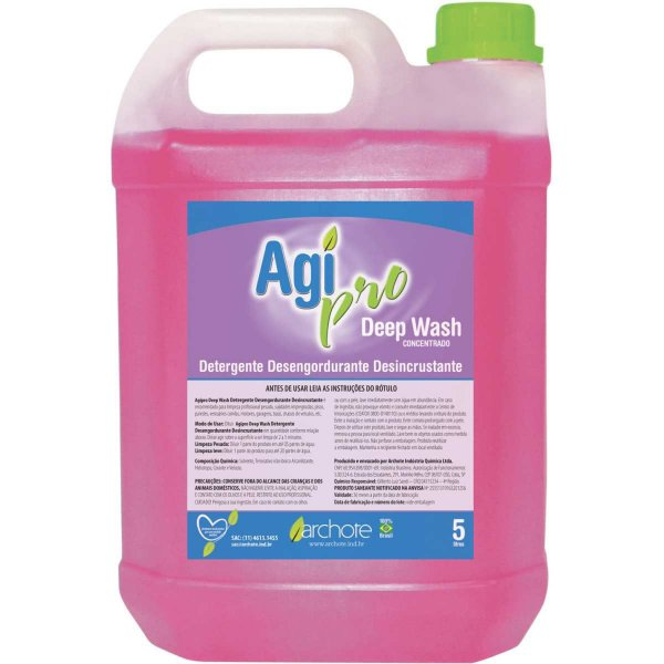 Detergente Líquido Agipro Desincrustante 5 Litros Archote