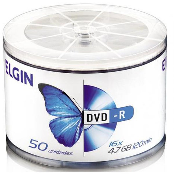 Dvd Gravável Dvd-R 4,7gb/120min/16x Elgin