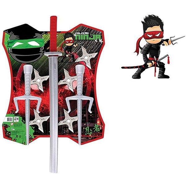 Fantasia Acessório Kit Ninja 52cm Leplastic