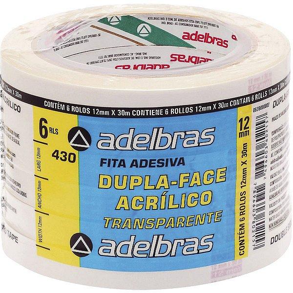 Fita Dupla Face Polipropileno 12Mmx30Mts. Adelbras