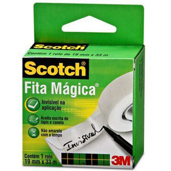 Fita Magica Scotch 810 19Mmx33M.s/aparelho 3M