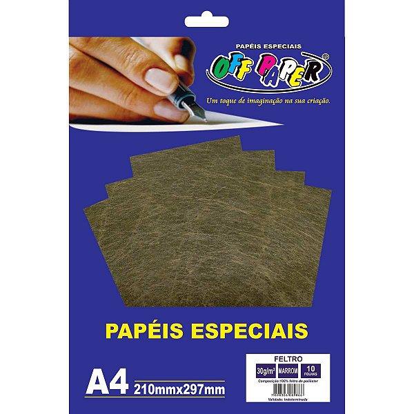 Folha Feltro A4 Marrom 30G/m 10Fls. Off Paper