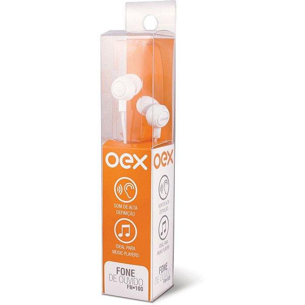 Fone De Ouvido Intra Auricular Branco Newex
