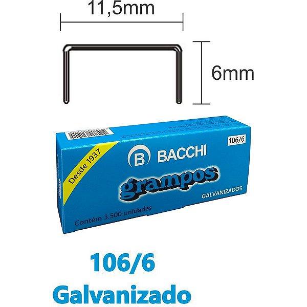 Grampo Para Grampeador 106/6 Aco 3500 Grampos Bacchi