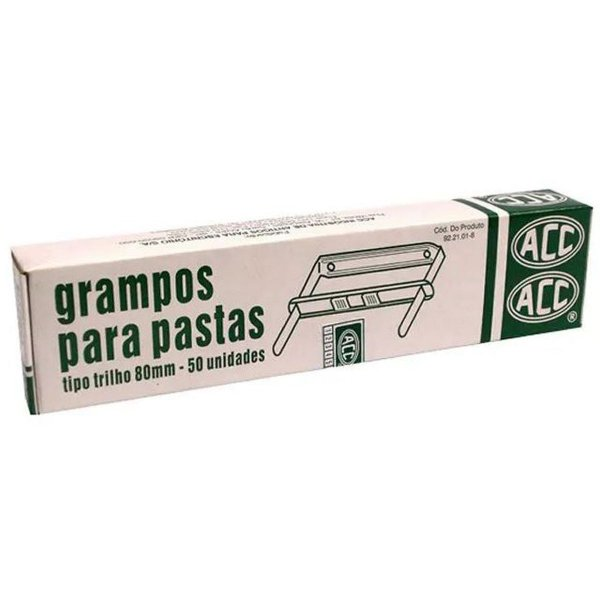 Grampo Trilho Metal Romeu/julieta 80Mm C/50J Acc