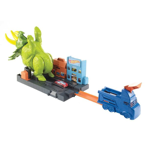 Hot Wheels Pista E Acessorio Ataque De Triceratops Mattel