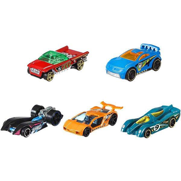 Hot Wheels Hot Wheels C/5 Carrinhos Sort. Mattel