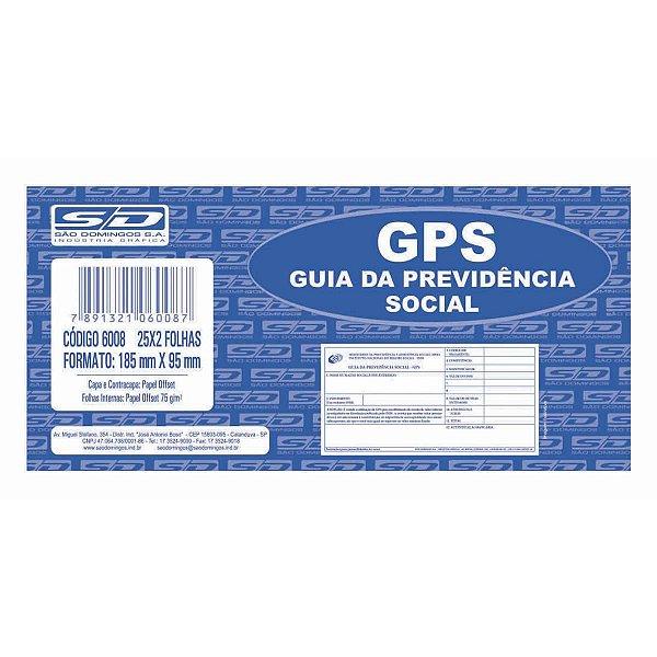 Impresso Previdencia Social Gps 25X2 Vias 185X95Mm Sao Domingos