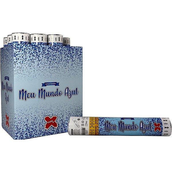 Lancador De Confete Meu Mundo Azul 30Cm Make+