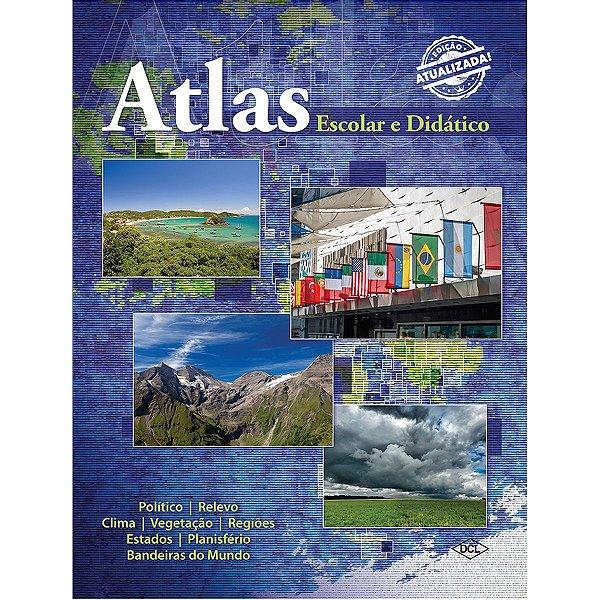 Livro Atlas Escolar E Didatico Cp.dura 80P Dcl