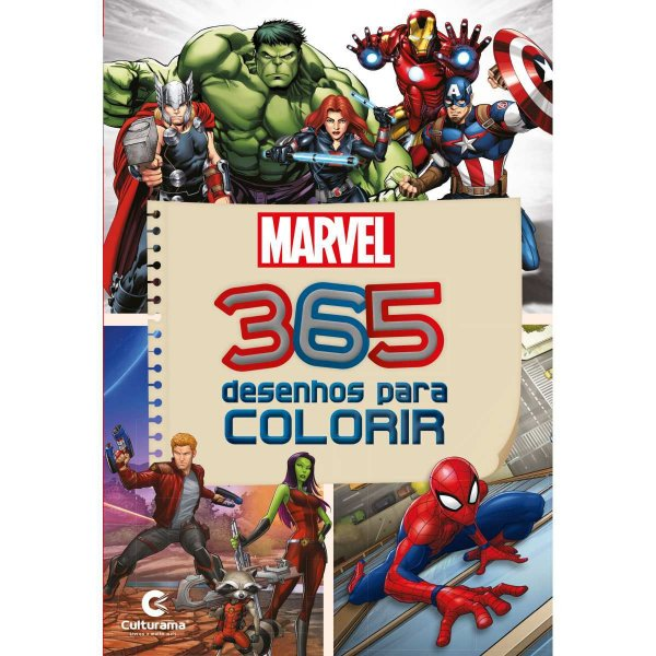 Livro Infantil Colorir Marvel 365 Desenhos P/colorir Culturama