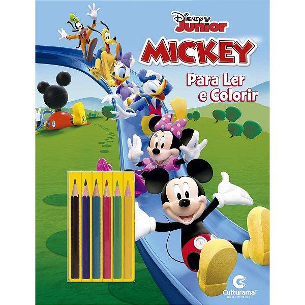 Livro Infantil Colorir Mickey Ler E Colorir C/lapis Culturama