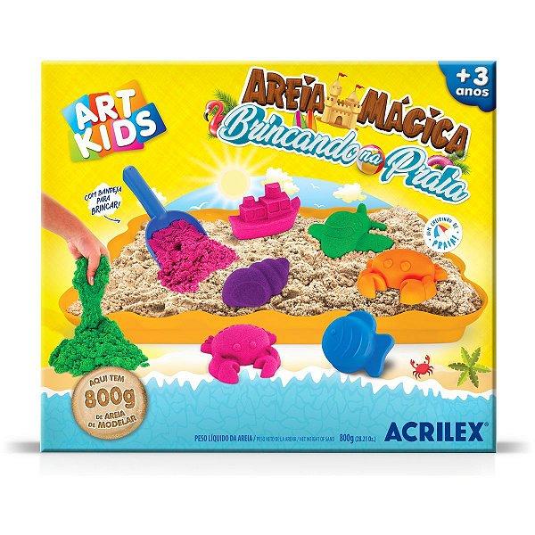 Massa Areia Dinos 400G Acrilex