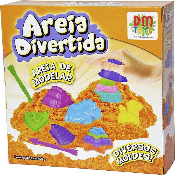 Massa Areia Divertida Bichos 14Pcs Dm Toys