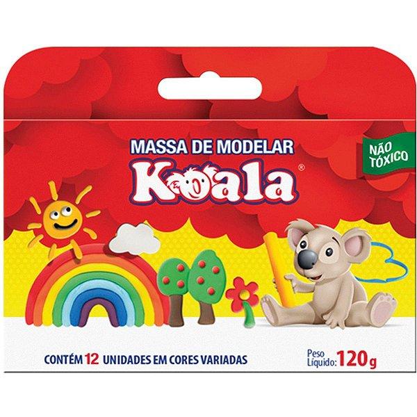 Massa Para Modelar Koala C/ 12 Cores Delta