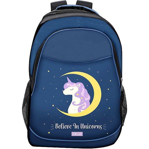 Mochila Escolar Believe In Unicornio Gd 3Bolso Yangzi