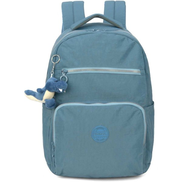 Mochila Escolar Up4You Gd 4Bolsos Azul Crinkle Luxcel
