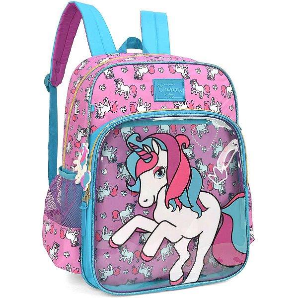 Mochila Escolar Up4You Petit Unicornio Gd 3Bol Luxcel