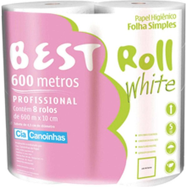 Papel Higienico Best Roll Folha Simples 600M Cia Canoinhas