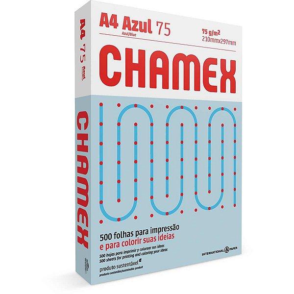 Papel Sulfite A4 Colorido Chamex 75G Azul International Paper