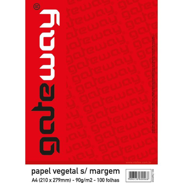 Papel Vegetal Gateway A-3 63G.s/margem Visitex
