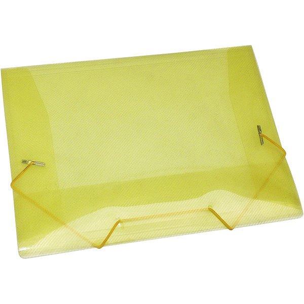 Pasta Aba Elastica Plastica Mini Amarela Acp