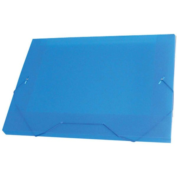 Pasta Aba Elastica Plastica Oficio 20Mm Azul Acp
