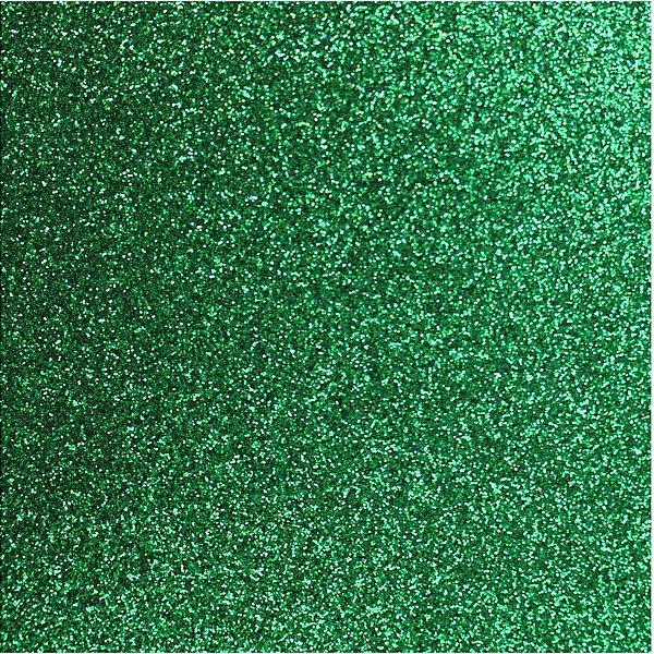 Placa Em Eva Com Gliter 40X48Cm. Verde Grama 2Mm. Make+