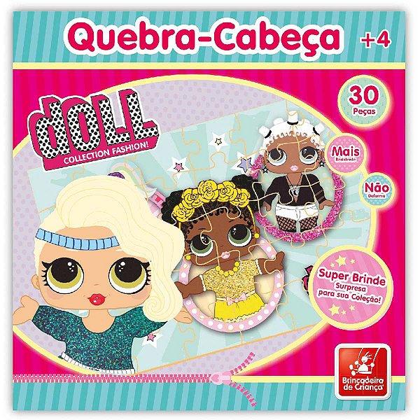 Quebra-Cabeca Madeira Doll 30 Pecas Brinc. De Crianca