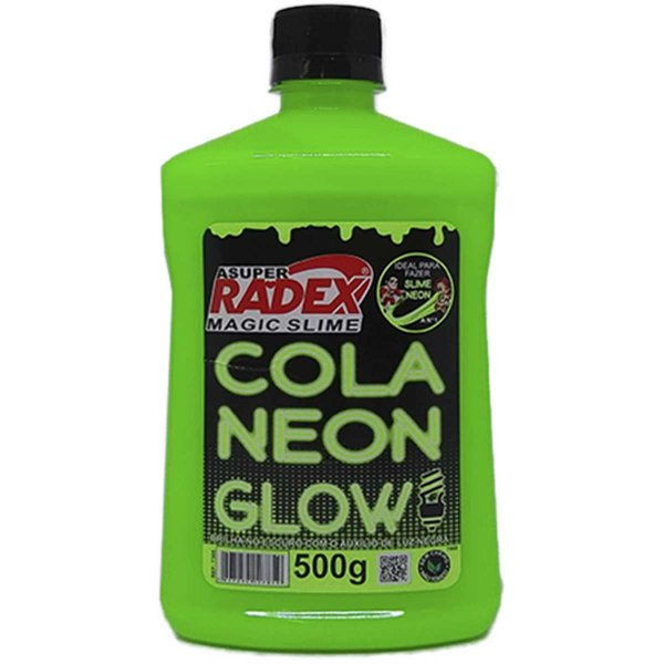 Slime Cola Glow Neon Verde 500Gr. Radex
