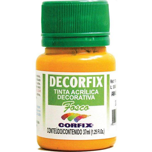 Tinta Acrilica Fosca Decorfix Amarelo Cadmio 37Ml. Corfix