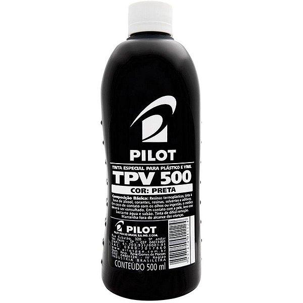 Tinta Plastico E Vinil Tpv Preta 500Ml Pilot