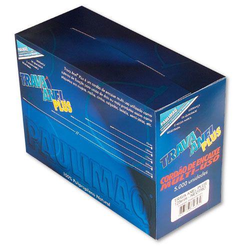 Trava Anel Plastico Plus 125Mm Neutro C/5000 Etiq Plast