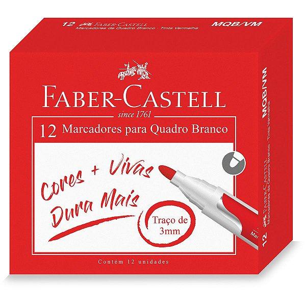 Pincel Quadro Branco Vermelho Faber-Castell