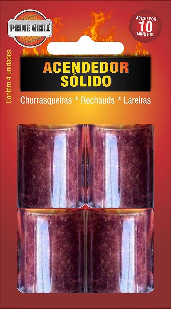 Acendedor solido blister c/ 4un