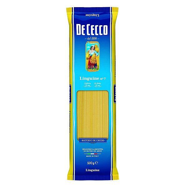 Macarrao italiano De Cecco linguine 500g