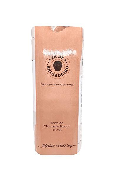Barra de Chocolate Branco Creme Crocante - Fã de Brigadeiro