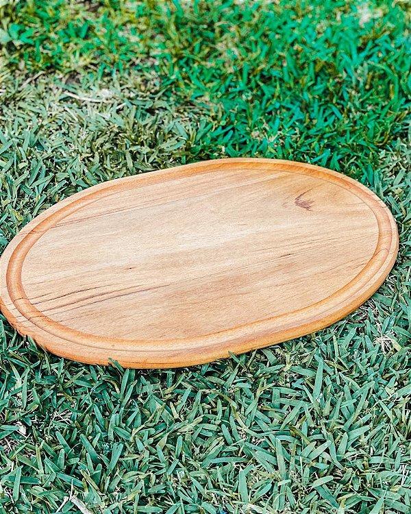 Tábua oval para churrasco e cozinha